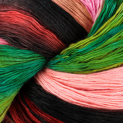 Artyarns 2 Ply Cashmere Ombre - Bright Green, Pink, Yellow, Orange, Black (71029)