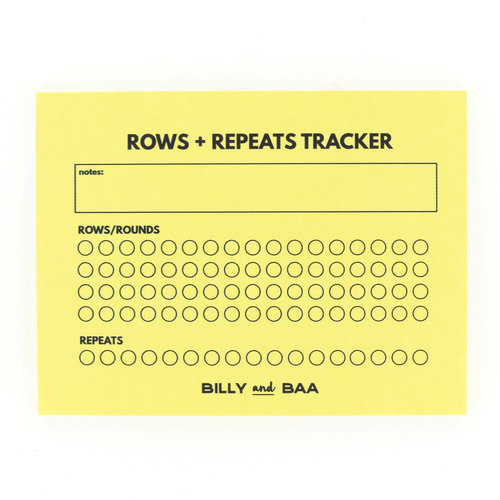 Billy and Baa Rows & Repeats Tracker Sticky Notes -  ()