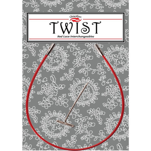 "ChiaoGoo Twist Red Lace Interchangeable Cable - 8"" Large (LG08)"