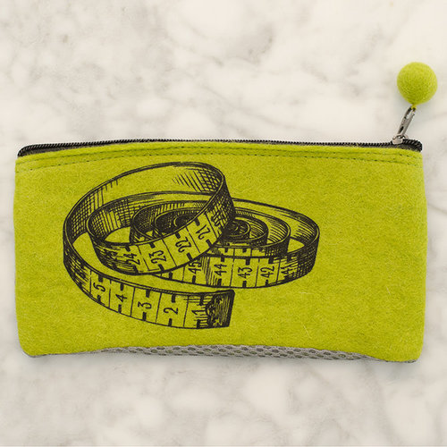 Fibres of Life Small Mesh Bags - Lime w- Tape Measure - STRING ONLY (LMTM)
