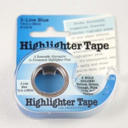 Highlighter Tape - blue (BLUE)
