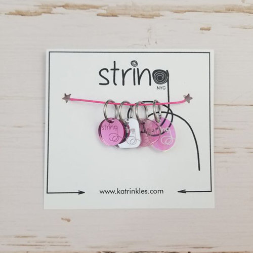 Katrinkles String Logo Stitch Markers - Set of 4 (SET)