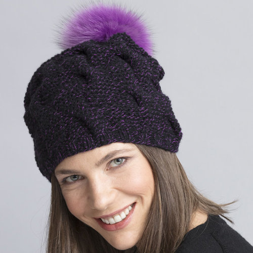 String Drew Cabled Hat & Cowl PDF -  ()
