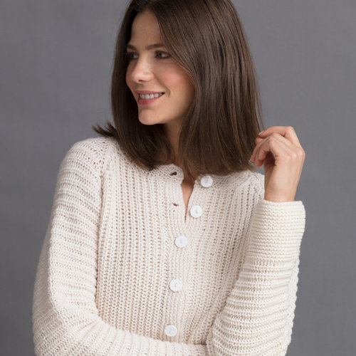 "String Janet Ribbed Cardigan Kit - 32"" (01)"
