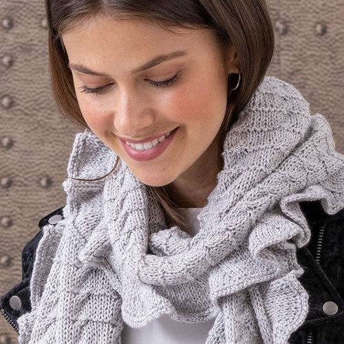 String Lorelie Cabled Scarf Kit - Scarf (01)