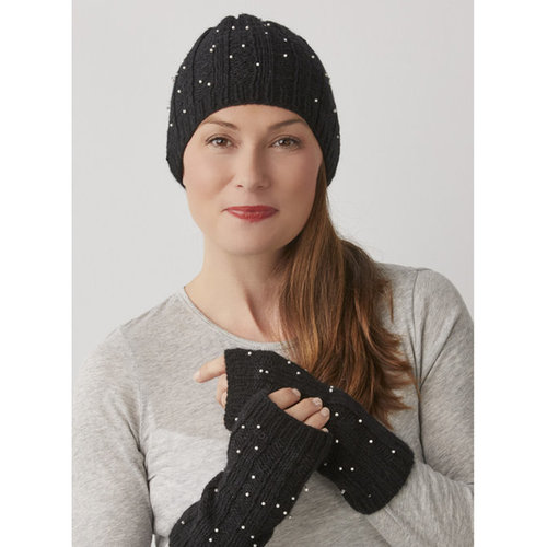 String Starry Night Hat & Mitts PDF -  ()