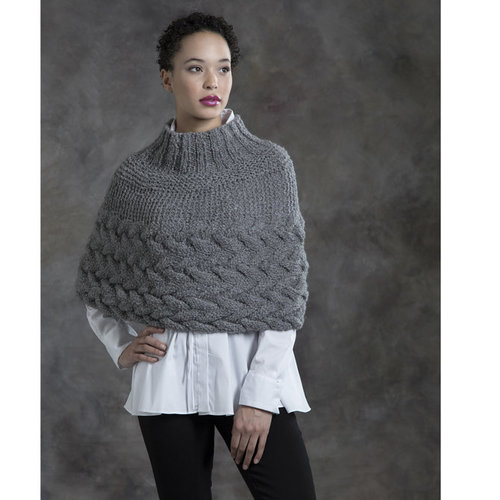 Tahki Yarns Grey Birch Capelet PDF -  ()