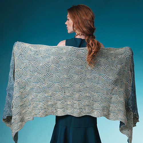 Vogue Knitting Ocean Wave Wrap Kit - Model (1)